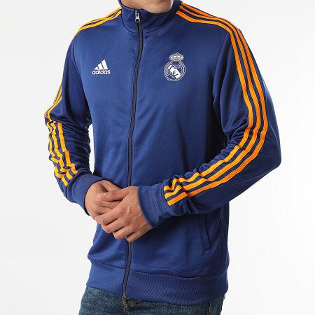 adidas - Veste De Sport Zippée A Bandes Real Madrid 3 Stripes GR4246 Bleu Marine
