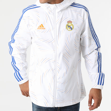 adidas - Coupe-Vent A Capuche Real Madrid GR4274 Ecru