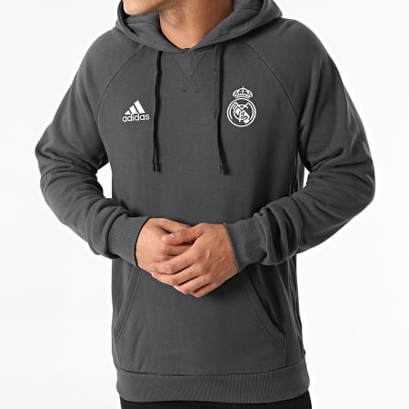 adidas - Sweat Capuche Real Madrid GR4276 Gris Anthracite
