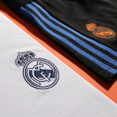 adidas - Polo Manches Courtes A Bandes Real Madrid 3 Stripes GR4242 Ecru