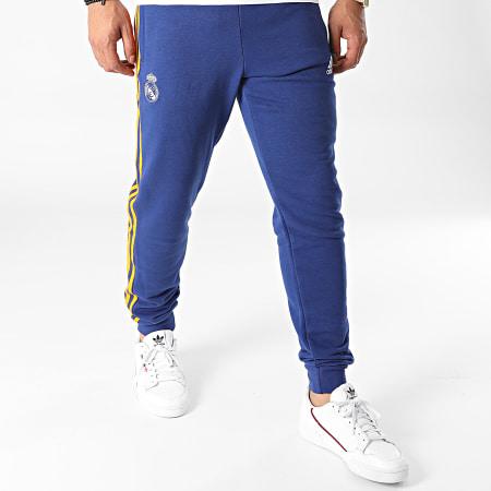 adidas - Pantalon Jogging A Bandes Real Madrid 3 Stripes GR4243 Bleu Marine