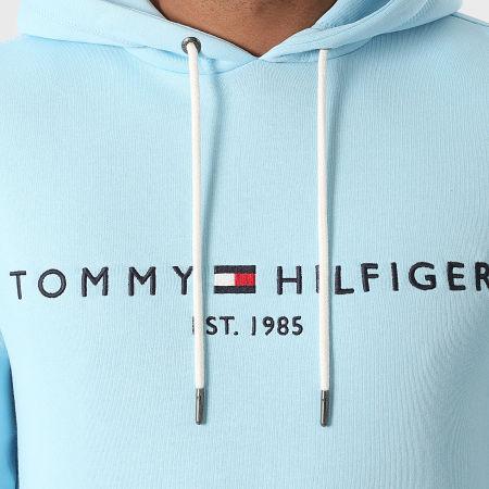 Tommy Hilfiger - Sweat Capuche Tommy Logo 1599 Bleu Ciel