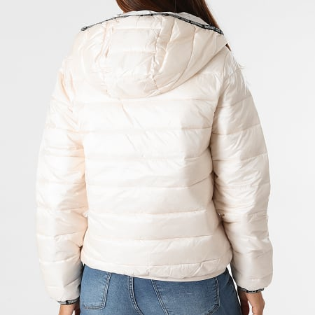 Tommy Jeans - Doudoune Capuche Femme Quilted Tape 9350 Beige