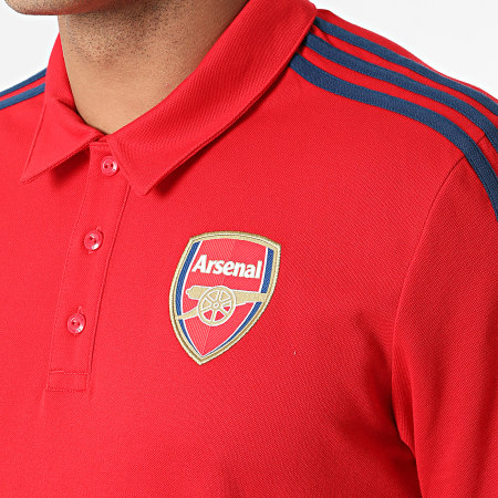 adidas - Polo Manches Courtes A Bandes Arsenal FC 3 Stripes GR4206 Rouge