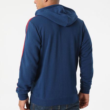 adidas - Sweat Zippé Capuche A Bandes Arsenal FC 3 Stripes GR4203 Bleu Marine