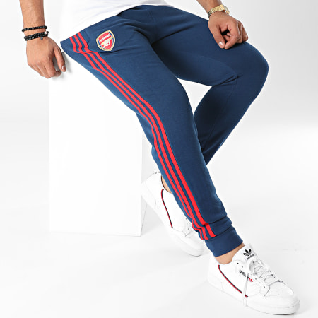 adidas - Pantalon Jogging A Bandes Arsenal FC 3 Stripes GR4231 Bleu Marine