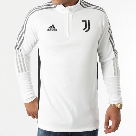 adidas - Sweat Col Zippé A Bandes Juventus GR2941 Ecru