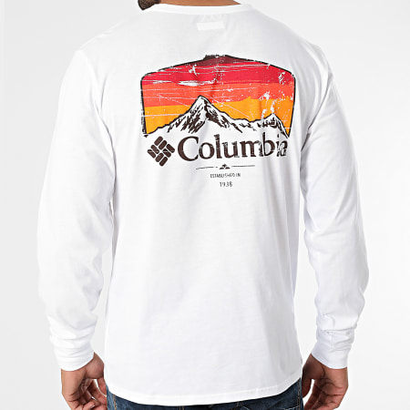 Columbia - Tee Shirt Manches Longues Pikewood Graphic 1977053 Blanc