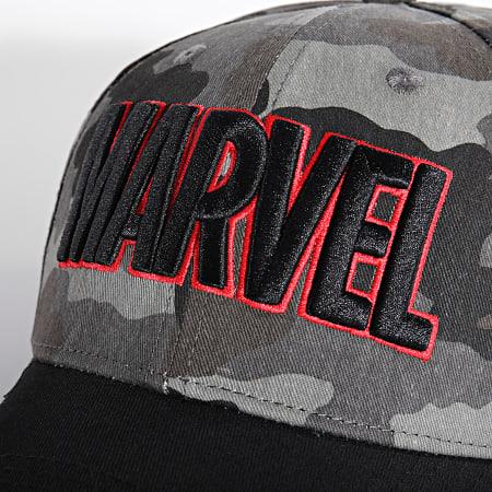 Marvel - Casquette Logo Camo Gris
