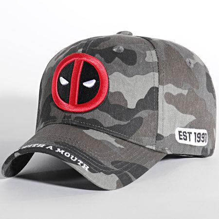 Deadpool - Casquette Logo Camo Gris