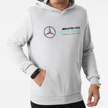Puma - Sweat Capuche Team Silver AMG Mercedes Gris