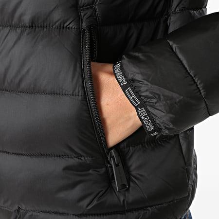 Tommy Jeans - Doudoune Capuche Femme Quilted Tape 9350 Noir