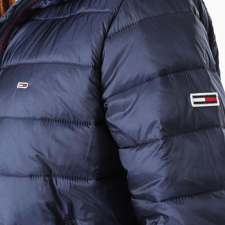 Tommy Jeans - Doudoune Capuche Femme Quilted Tape 9350 Bleu Marine