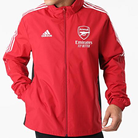 adidas - Veste Zippée A Bandes Arsenal FC GR4139 Bordeaux