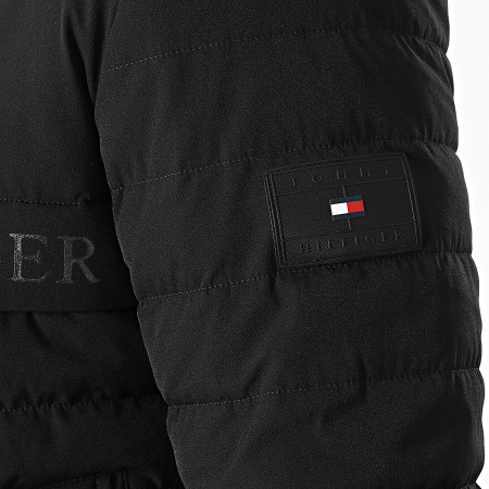 Tommy Hilfiger - Veste Zippée Capuche Stretch Hooded 8766 Noir