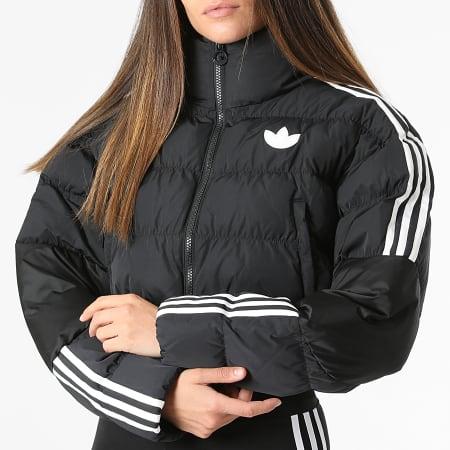 adidas - Doudoune Crop Femme A Bandes GU1770 Noir