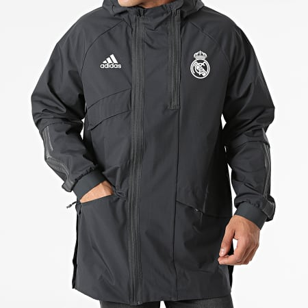 adidas - Veste Zippée A Capuche Real Madrid GR4275 Gris Anthracite