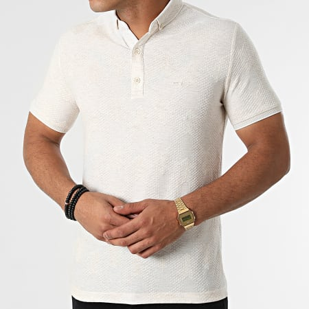 Classic Series - Polo Manches Courtes 21Y-1094 Beige Chiné