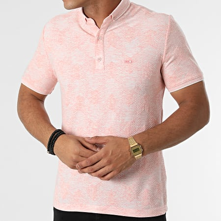 Classic Series - Polo Manches Courtes 21Y-1094 Rose Saumon Chiné
