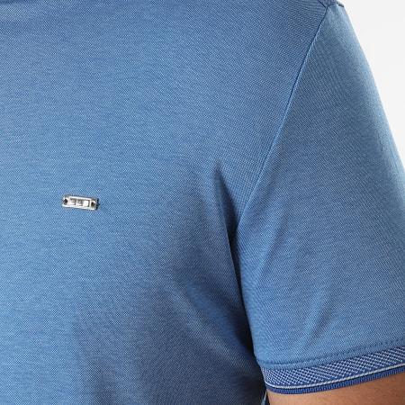 Classic Series - Polo Manches Courtes 21Y-1118 Bleu Chiné