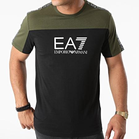 EA7 Emporio Armani - Tee Shirt 6KPT10-PJ7CZ Vert Kaki Noir