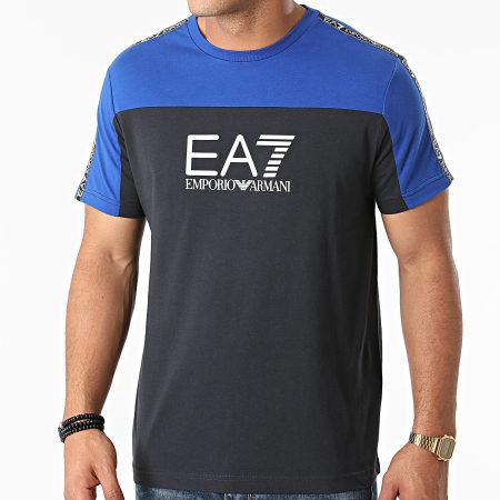 EA7 Emporio Armani - Tee Shirt 6KPT10-PJ7CZ Bleu Roi Noir