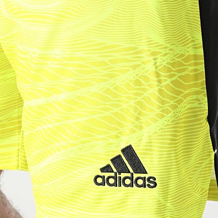 adidas - Short De Sport A Bandes Manchester United GM4626 Jaune Noir