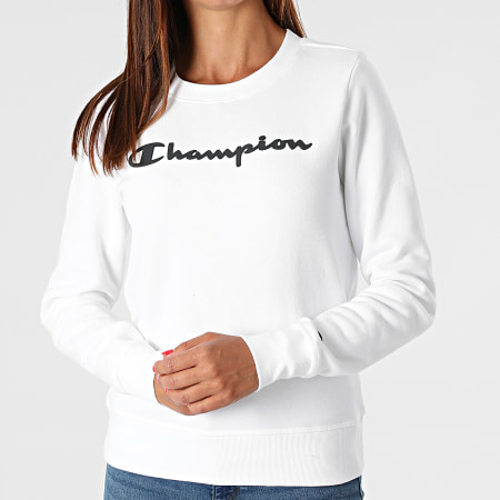 Champion - Sweat Crewneck Femme 113210 Blanc