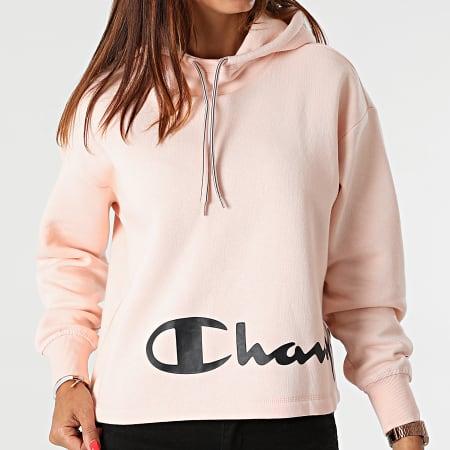 Champion - Sweat Capuche Femme 114418 Rose