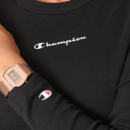 Champion - Tee Shirt Manches Longues Femme 114435 Noir