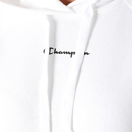 Champion - Sweat Capuche Femme A Bandes 114716 Blanc