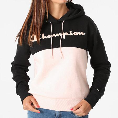 Champion - Sweat Capuche Femme 114779 Noir Rose