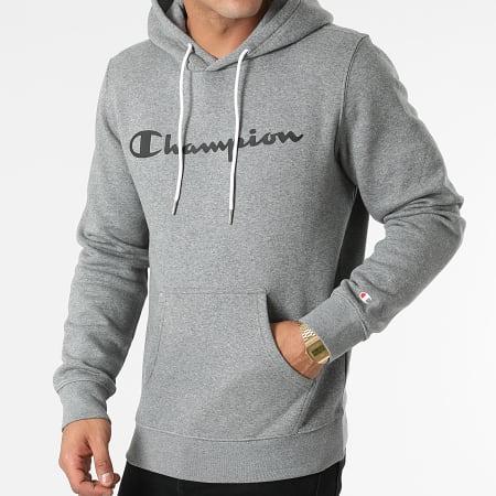 Champion - Sweat Capuche 214743 Gris Chiné