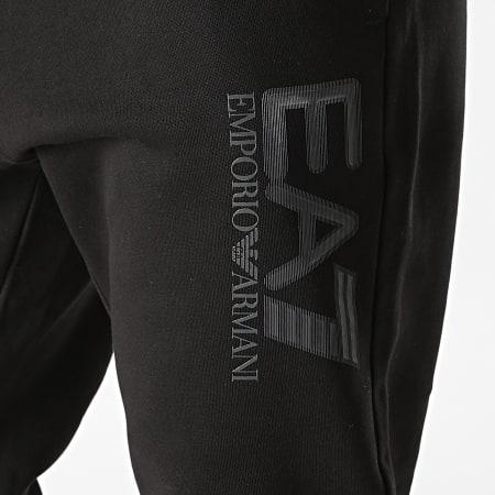 EA7 Emporio Armani - Pantalon Jogging A Bandes 6KPP96-PJ07Z Noir Gris Anthracite Chiné