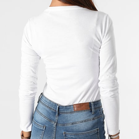 Guess - Tee Shirt Manches Longues Femme W1YI97-JA911 Blanc