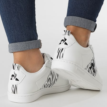 Le Coq Sportif - Baskets Femme CourtClassic 2120528 Optical White Animal