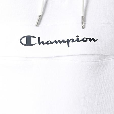 Champion - Sweat Capuche Col Zippé 214746 Blanc