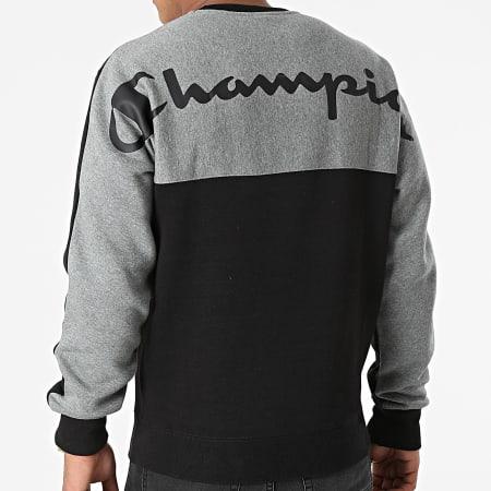 Champion - Sweat Crewneck 216466 Noir Gris Chiné