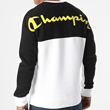 Champion - Sweat Crewneck 216466 Blanc Noir Vert