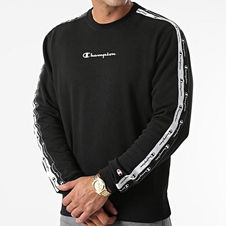 Champion - Sweat Crewneck A Bandes 216560 Noir