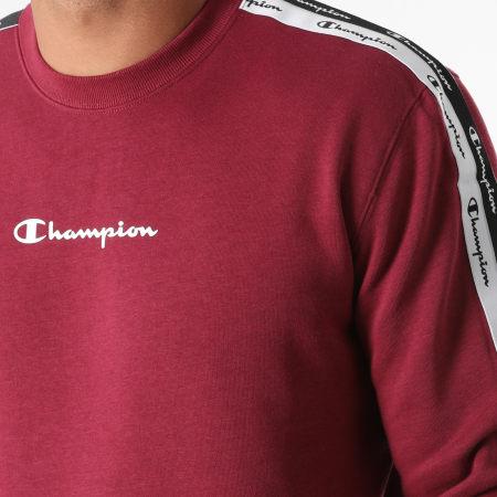 Champion - Sweat Crewneck A Bandes 216560 Bordeaux