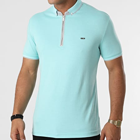 Classic Series - Polo Manches Courtes 21Y-1118 Bleu Turquoise