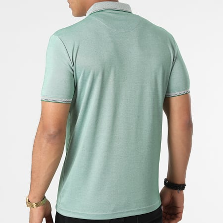 Classic Series - Polo Manches Courtes 21Y-1118 Vert Chiné
