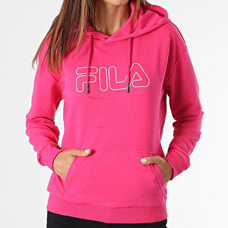 Fila - Sweat Capuche Femme Larkin 683502 Rose Fushia
