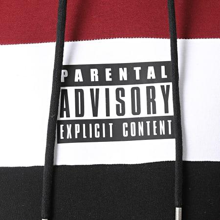 Parental Advisory - Sweat Capuche Mini Tricolore Noir Bordeaux Blanc