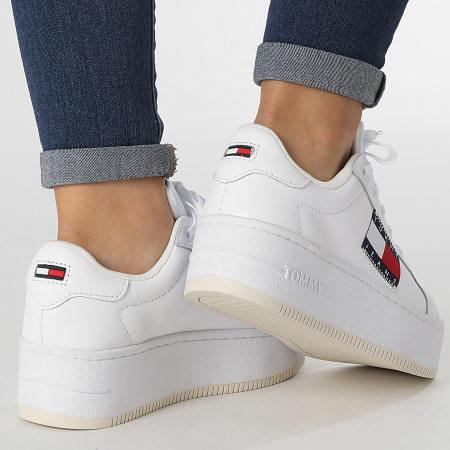 Tommy Jeans - Baskets Femme Flatform Flag Branding 1504 White