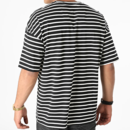 Frilivin - Tee Shirt A Rayures BM1333 Noir Blanc