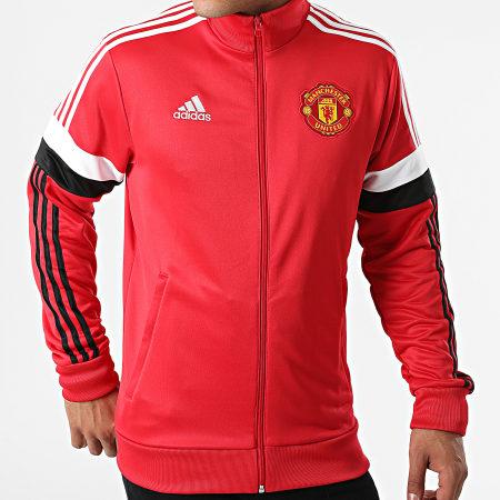 adidas - Veste Zippée A Bandes Manchester United GR3887 Rouge