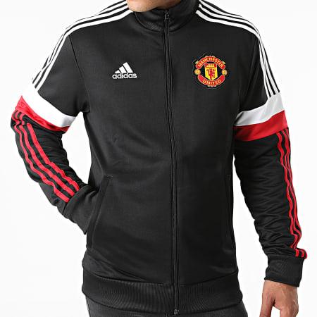 adidas - Veste Zippée A Bandes Manchester United GR3888 Noir