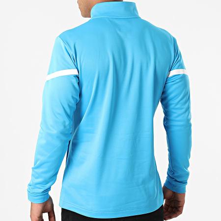 Puma - Sweat Col Zippé OM Prematch 759534 Bleu Clair